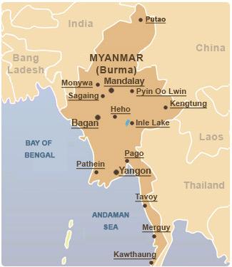 Myanmar-Map